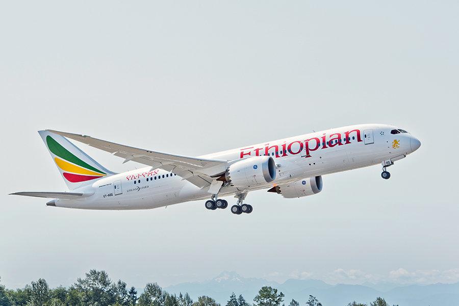 Incidente aereo, Ethiopian blocca boeing