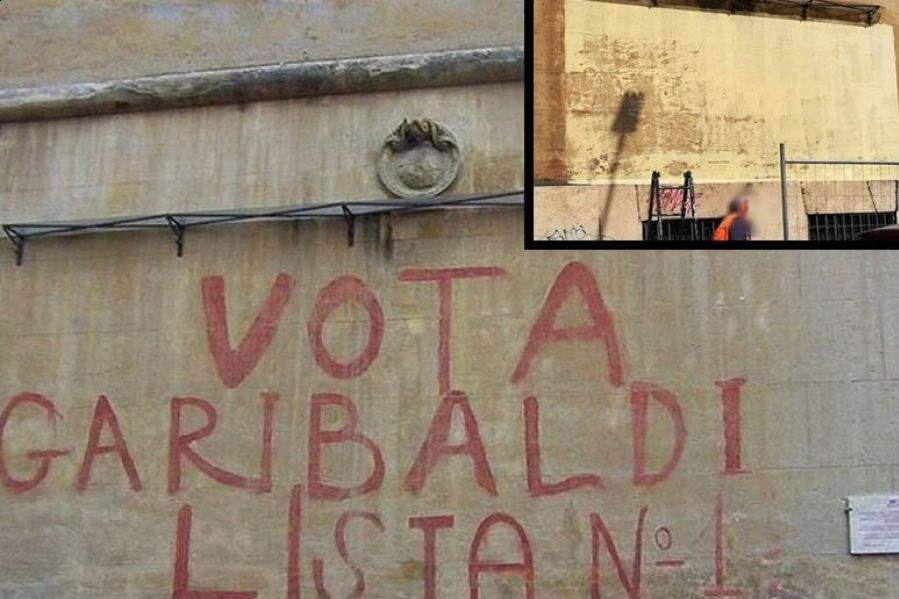 Roma scritta storica scambiata per vandalismo