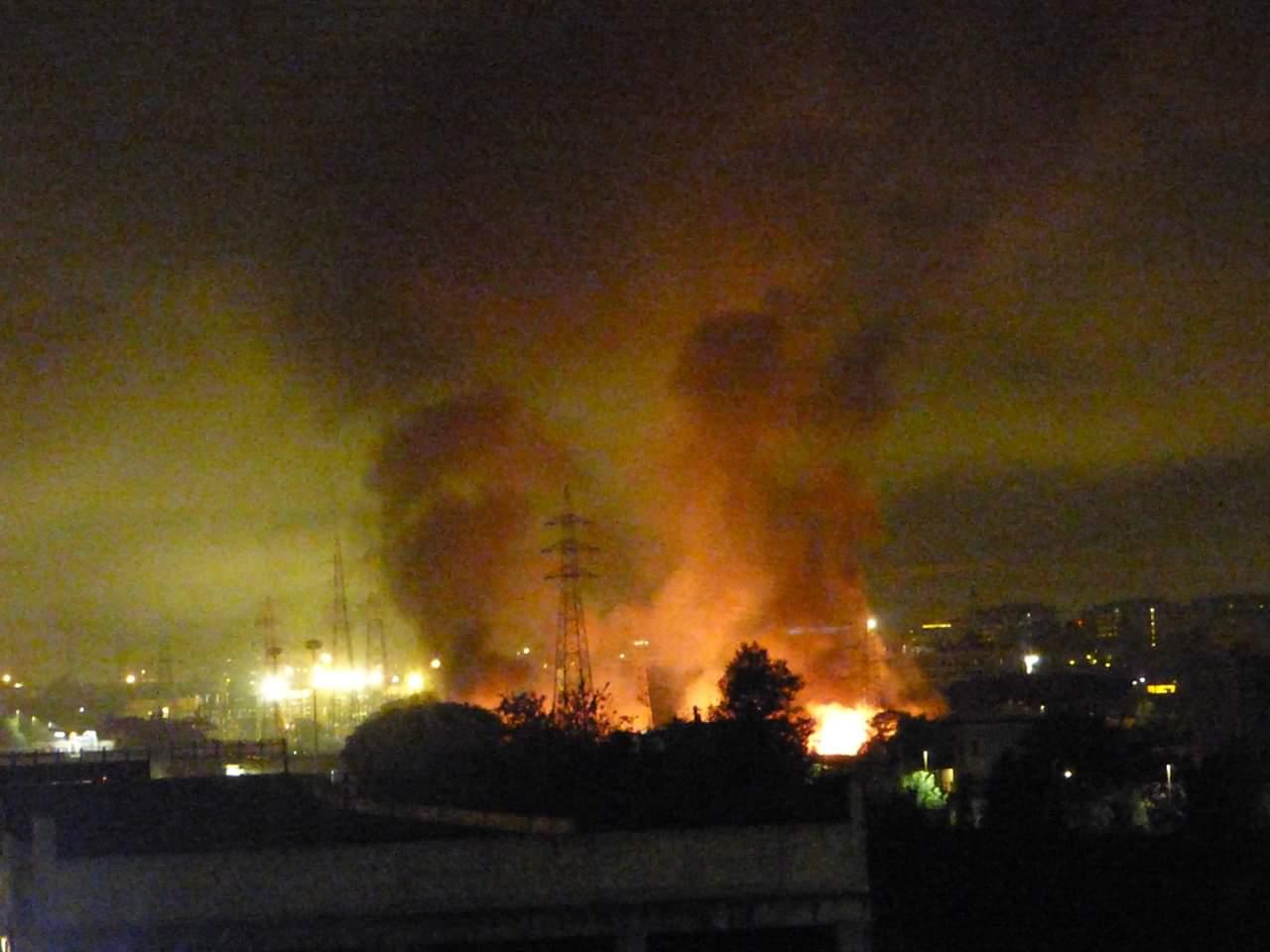 Incendio a Roma, fiamme nella zona est