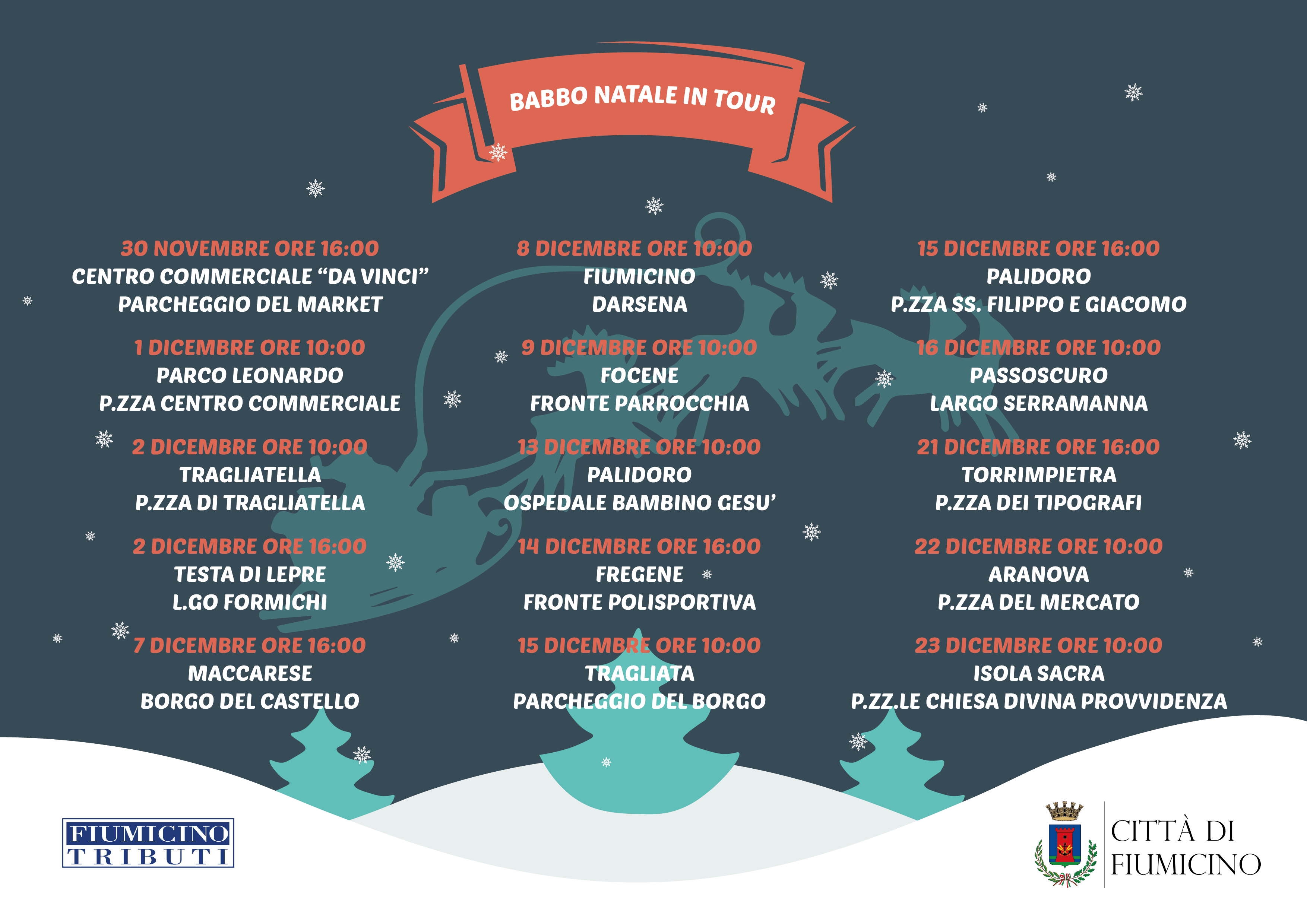Babbo Natale 7 Cervelli.Natale A Fiumicino Un Carnet Ricco Di Eventi Italia Sera